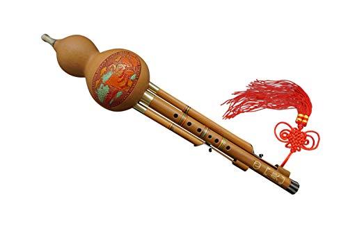 100% Handgeschnitzte Hulusi für Anfänger – Blasinstrument Chinesische Flöte #103