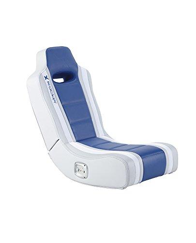 X Rocker Hydra 2.0 Floor Rocker Gaming Chair with 2.0 Audio System (Blue)