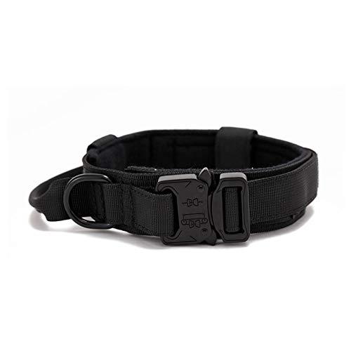 Bagalqio Collares de Perro de Nylon, Collar Perro, Collar ajustable para perros Collar resistente con asa para perros grandes, Anti-Desgaste Entrenamiento táctico al Aire Libre Cinturones de richly