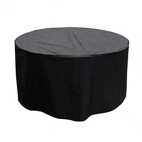 zhxinashu Housse de Protection pour Le Mobilier - Canapé étanche Ensemble pour Table Chaises Poussière Patio Ronde (Noir,140 * 95 cm)
