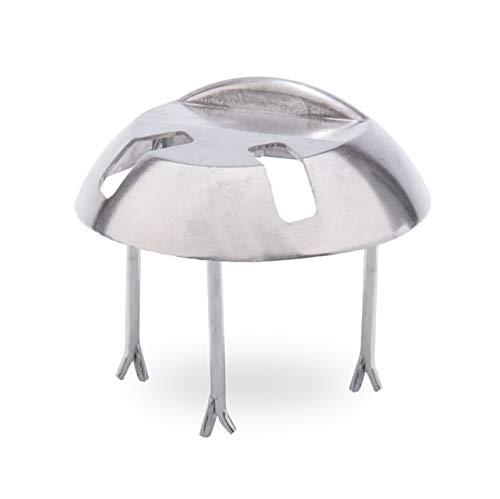 GAH-Alberts 210953 Auflaufstütze | zum Einbetonieren, mit Langlöchern | Aluminiumguss | Ø205 x 65 mm