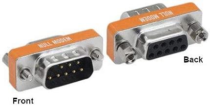 KENTEK Mini DB9 Male to Female M/F Serial/at Null Modem Mini Adapter Gender Changer Coupler RS-232 Crossover Data Transfer