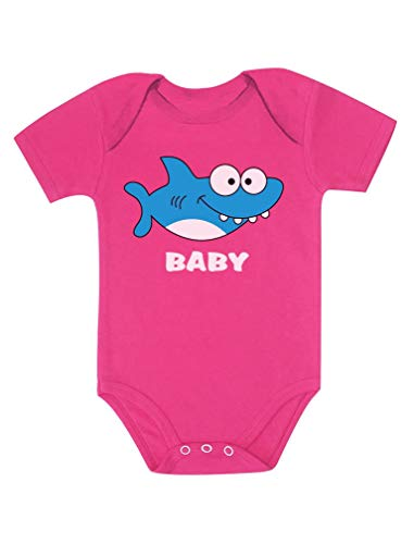 Shark Outfit for Baby Boy or Baby Girl Baby Bodysuit 6M (3-6M) Wow Pink