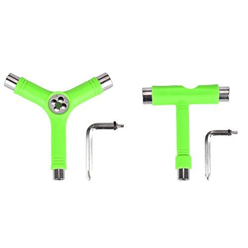 RLAjhhh Gklkfj Skate Tool Set of 2,All-In-One Multifunctional Portable T-Tool&Y-Tool for Skateboard