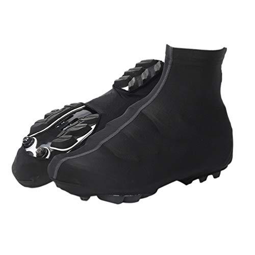 Garneck Cubrezapatillas de Ciclismo Cubre Calzado para Deportes Al Aire Libre Antideslizante Zapato Cubre Lluvia para MTB Bicicleta de Carretera Bicicleta de Carreras (Negro XL)