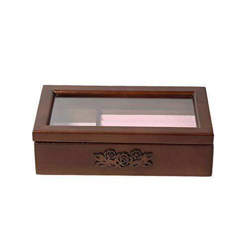 kowaku Caja de Almacenamiento de joyería de Madera Clara Caja de Almacenamiento de Reloj Organizador contenedor para Mujeres Hombres Regalo