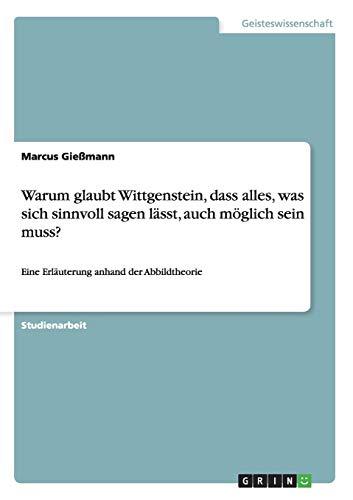 Warum glaubt Wittgenstein, dass alles, was sich sinnvoll sagen lässt, auch möglich sein muss?: Eine Erläuterung anhand der Abbildtheorie