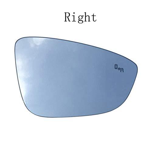 RONGSHU Izquierda Derecha climatizada Blind Spot Warning Espejo de ala Trasera de Cristal for VW Jetta Passat B7 CC Bora Bettle Scirocco 3C8857521 3C8857522 (Color : Right)