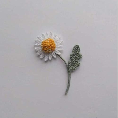 broche boho flor, broche margarita de ganchillo