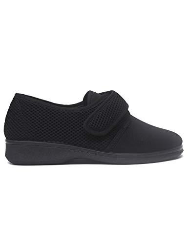 Zapatillas de Estar por casa para Mujer Especial para Personas Mayores Ancianos Ancho Especial Campello 5581 Negro - Color - Negro, Talla - 36