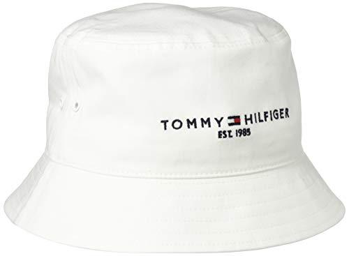 Tommy Hilfiger Herren TH Established Bucket HAT Hut, Weiß, Einheitsgröße