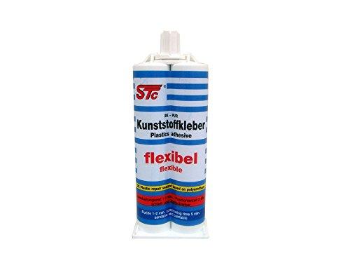 Preisvergleich Produktbild STC 2K PUR Kunststoffkleber Flex 50 ml Kfz Industriekleber Kunststoffreparatur