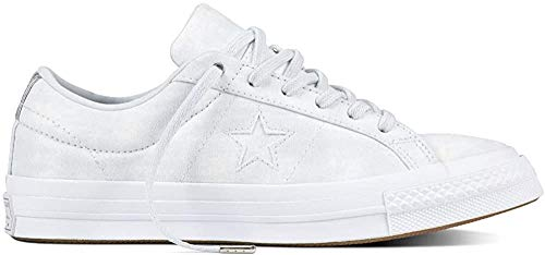 Converse Unisex-Erwachsene Cons One Star Peached Wash OX Fitnessschuhe, Silber (Pure Platinum/Pure Platinum 082), 39/40 EU
