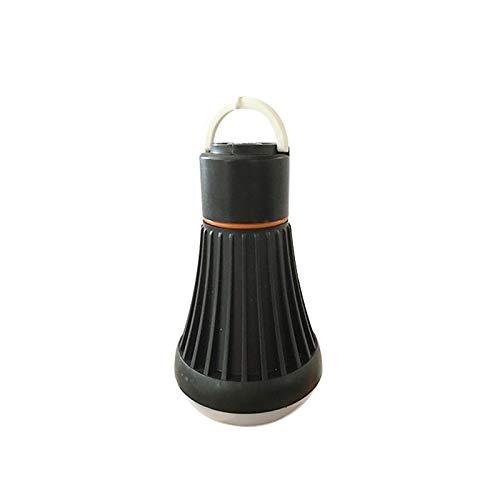 Lampara Luz Cámping portátil para Luz de Trabajo Exterior Emergencias Senderismo Pesca y Más Aventura Apagón de Corriente Garaje (Black)