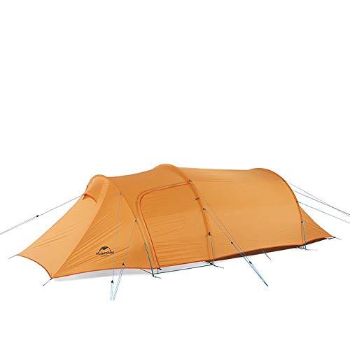 iBasingo Opalus Tienda de campaña túnel desmontable para 2-3 personas, con vestíbulo al aire libre, ultraligera, para acampar familiar, escalada, doble capa, impermeable, para 4 estaciones