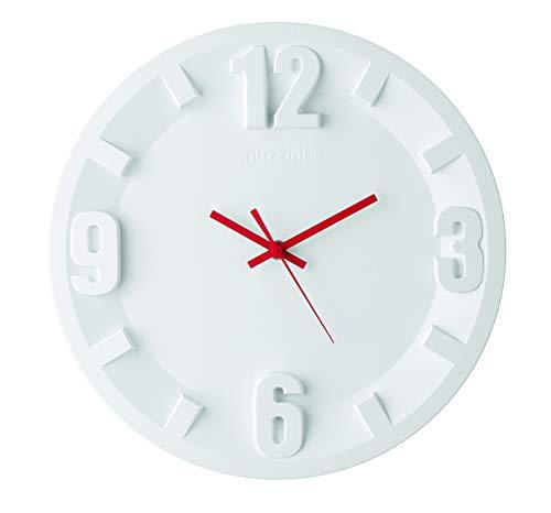 Guzzini Orologio Da Parete 3-6-9-12 Home, Bianco, 31 x h3.5 cm