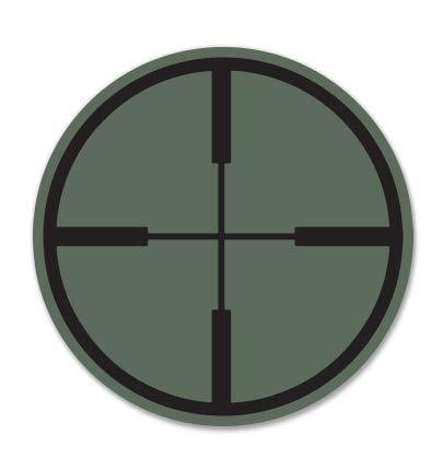 GT Graphics Reticle Crosshair Target - 3' Vinyl Sticker - for Car Laptop I-Pad Phone Helmet Hard Hat - Waterproof Decal