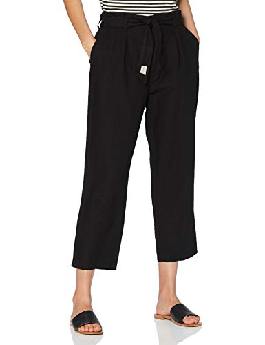 Herrlicher Comfy Linen Uni Pantalones, Negro (Black 11), 44 para Mujer
