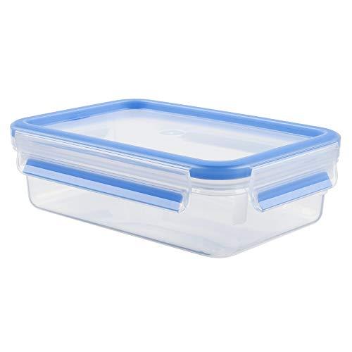 Tefal K3021212 - Masterseal Fresh - Boîte plastique de conservation alimentaire rectangulaire - 1 L - Bleu