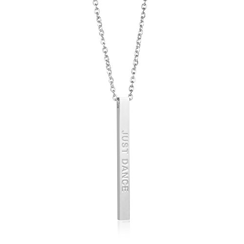 Joycuff Dancer Ballet Jewelry Gift Her Vertical Bar Necklace Friendship Gifts Teacher Gifts for Teen Girls Just Dance