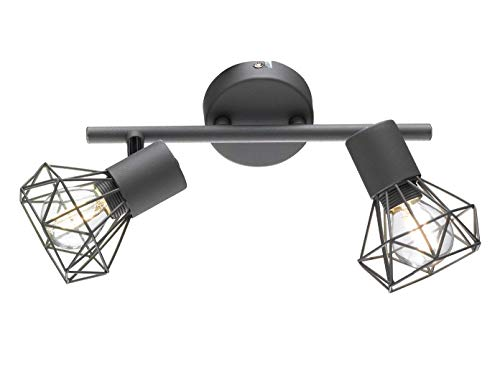 Fischer & Honsel Spotschiene 2x E14 max.40W grau matt/chrom,25x8x18cm