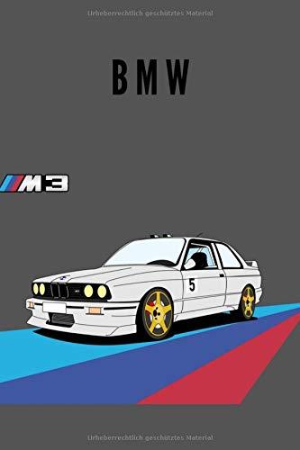 Price comparison product image BMW Notizbuch Taschenbuch Journal Leniert A5 100 Seiten,  Vintage Softcover,  Weißes Papier - Dickes Notizheft,  Skizzenbuch,  Zeichenbuch,  Blankobuch