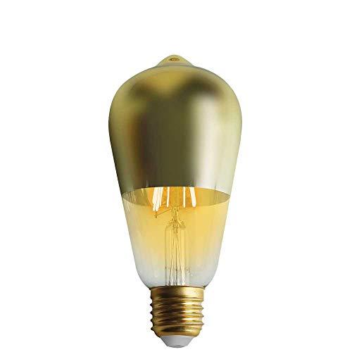 Bombilla LED Edison Cúpula Oro E27 6W Equi.45W 600lm 15000H 7hSevenOn Vintage