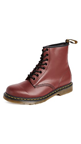 Dr. Martens 1460 Smooth, Stivali Unisex - Adulto, Rosso (Cherry Red), 39 EU