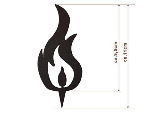 Edelrost Deko-Flamme (DREI Spitzen) Größe S/ 11cm: Wunderschöner Deko-Artikel für Ihre Wohnung - Weihnachts-Deko von Manufakt-Design