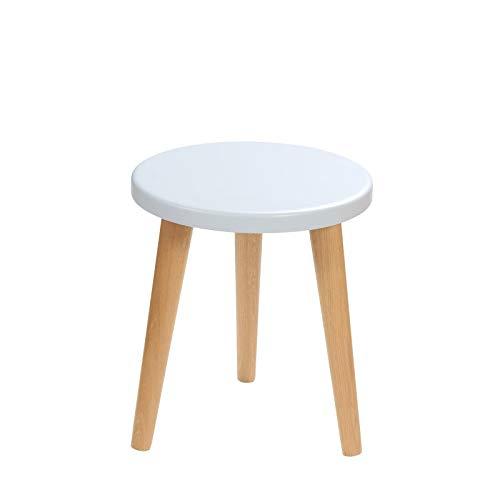 BIM Furniture Flynn O MoonWood - Taburete infantil (34 x 30 cm, madera de roble), color azul