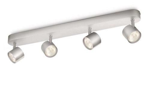 Philips myLiving Star - Barra de focos, LED, 4 luces, aluminio, luz...