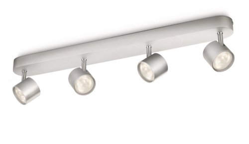 Philips Lighting Star Iluminacion, 3 W, Gris, 4 puntos de luz aluminio