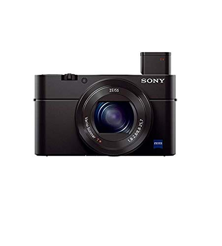 Sony RX100M3 - Cámara Compacta Premium Avanzada (Sensor tipo 1.0, Objetivo Zeiss 24-70 mm F1.8-2.8 y Pantalla abatible para Vlogging)