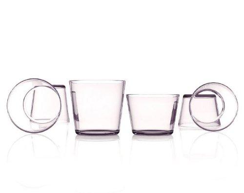 GOTTO Set 4 Bicchieri VINO in vetro soffiato