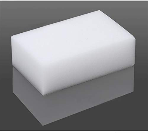 Spugne per la pulizia... 50pcs 100 * 60 * 20mm magia de melamina esponja de cocina Oficina magia eficiente esponja limpia conveniente Accesorio / Lavado Nano para coche, cocina, baño ( Color : White )