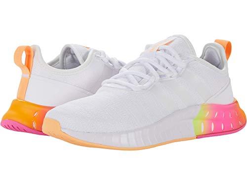 adidas Women's Kaptir Super Running Shoes, White/White/Acid Orange, 9