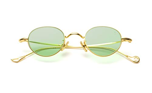 Eyepetizer Occhiali da sole Unisex modello Sean colore asta oro e lente verde
