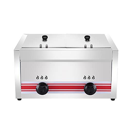 Deep Fryer Freidora de Gas 10/20/30 L, freidora de Gas Profesional de...