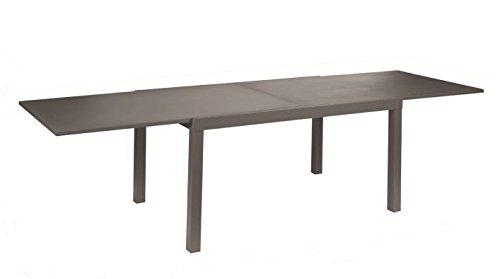 Castagnone Relio & c. sas Table Sofy extensible 140/280 x 90 cm, couleur bronze