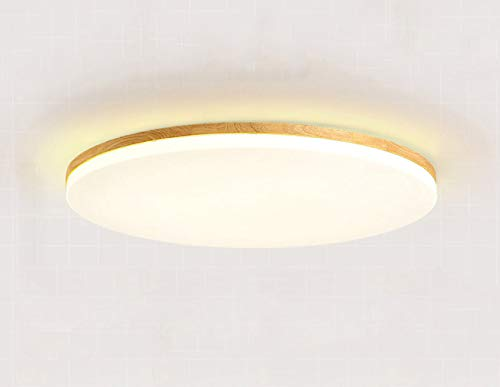 Lámpara de techo LED de 30 W, ultra fina, de regulación moderna, minimalista, regulable, de madera, para dormitorio, pasillos, balcones, oficinas, etc.