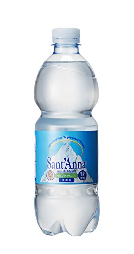イデアインターナショナル サンタンナ イタリアアルプス 天然水 500ml×24本 [0004]