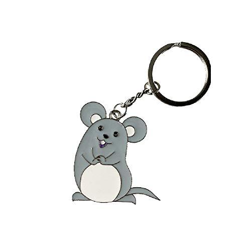 tgbvr Metalllegierung Schlüsselanhänger Ratte Jahr Niedliche Maus Taille Hängenden Auto Schlüssel Kreative Aktivität Kleines Geschenk
