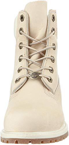 Timberland Timberland 10360 6 in Premium FTB, Damen Stiefel Weiß(Elfenbein), 37 EU(6 W)
