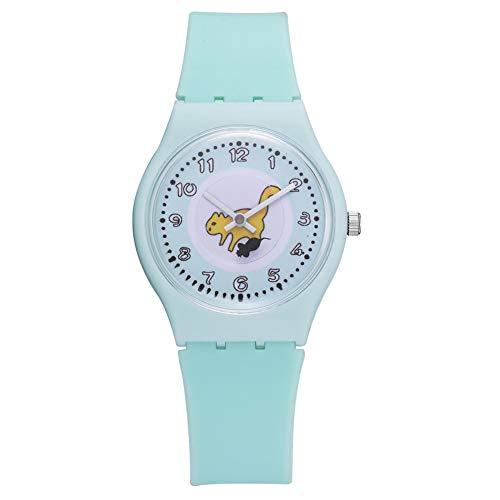 Lindo Patrón Clásico Cuarzo Reloj De Pulsera Silicona Moda Moda Redondo Reloj Nadie