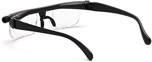 DFJU Gafas , Lente de Fuerza Ajustable Lectura Miopía Gafas Gafas Visión de Enfoque Variable -6D a + Dioptrías 3D Aumento de Fuerza Variable