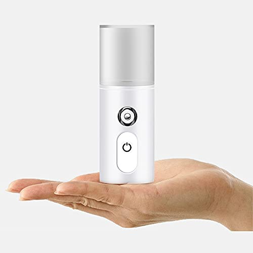 Portable Facial Steamer, Face nano mist sprayer for anti-aging moisturizing hydrating deep cleansing – Humidifier for eyelash extensions, makeup, hair, skincare, USB spray atomizer. Mini air mister
