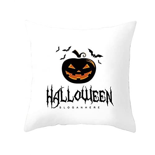 Dasongff Fundas de cojín cuadradas para Halloween, con impresión duradera, cojín decorativo para Halloween, hogar, dormitorio, cojín decorativo con diseño de calabaza y diablo