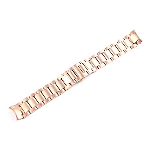 DANFENG 20 / 22mm Banda De Reloj For Samsung Gear S3 Strap De Acero Inoxidable Sólido Curved End Reloj De Reemplazo Reloj De Reemplazo Muñeca Frontera Classic (Band Color : Gold Smooth 20mm)