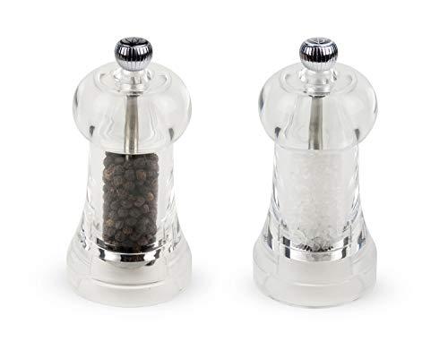 Peugeot Toul Mühlen-Set Pfeffer/Salz, Klassische Mahlgradeinstellung, Höhe: 11 cm, Acryl, Transparent, 2/20101901