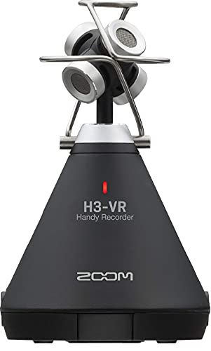 Zoom H3-VR 360° Audio Recorder, Records Ambisonics, Binaural, and Stereo, Battery...
